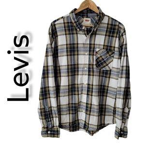 Levi's plaid long sleeve shirt Men's Size XL